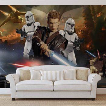 Carta da parati Star Wars Attacco Cloni Anakin Skywalker