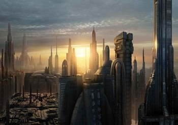 Carta da parati  Star Wars Città Coruscant