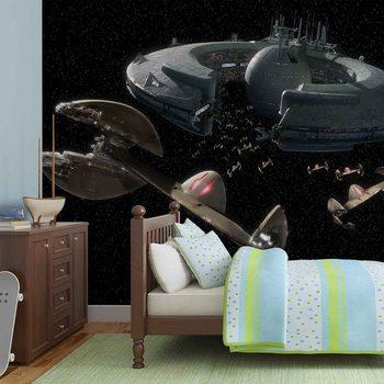 Carta da parati Star Wars Navicella Lucrehulk Controllo Droidi