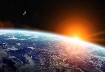 Carta da parati Sunrise Over Planet Earth