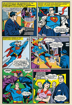 Carta da parati Superman Comic