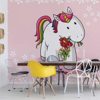 Carta da parati Sweet Unicorn Pink