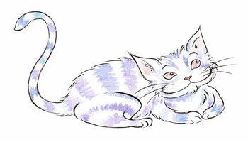 Carta da parati The  Cheshire Cat - illustration to  Lewis Carroll 's 'Alice's Adventures in Wonderland' , 2005