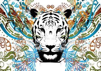 Carta da parati  Tigre Astratta