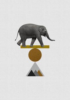 Carta da parati Tribal Elephant