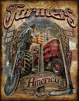 Cartel de metal Farmers - Backbone