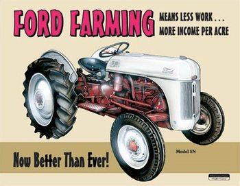 Cartel de metal Ford Farming 8N