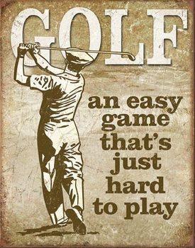 Cartel de metal Golf - Easy Game