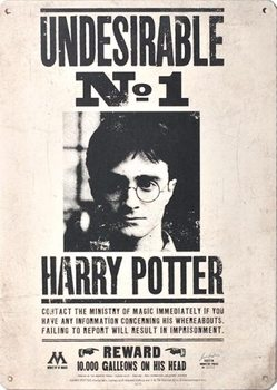 Cartel de metal Harry Potter - Undesirable No 1