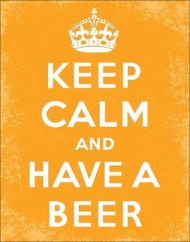 Cartel de metal Keep Calm - Beer