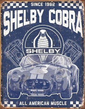 Cartel de metal Shelby - American Muscle