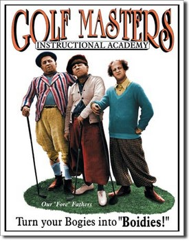 Cartel de metal STOOGES - golf masters