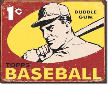 Cartel de metal TOPPS - 1959 baseball