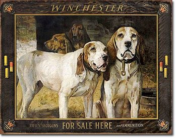 Cartel de metal Winchester - For Sale Here