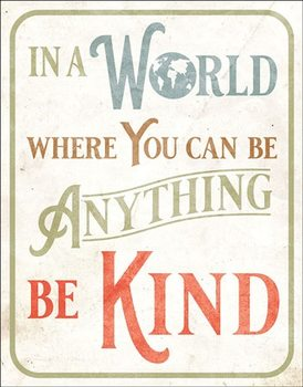 Be Kind Carteles de chapa