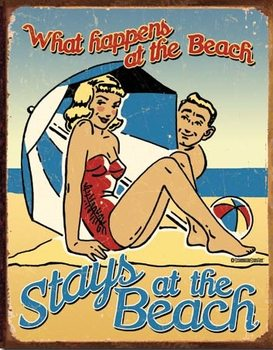 Beach - What Happens Carteles de chapa