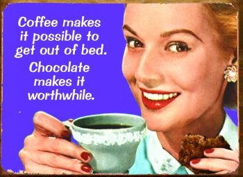 COFFEE MAKES IT POSSIBLE Carteles de chapa