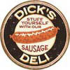 DICK'S  SAUSAGES Carteles de chapa