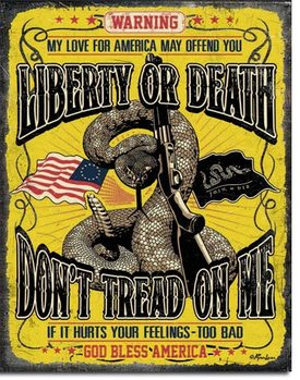 Don't Tread On Me - Warning Carteles de chapa