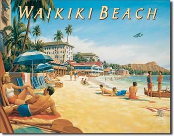 ERICKSON - waikiki beach Carteles de chapa