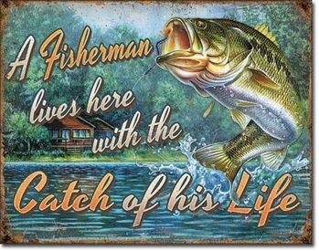 Fisherman's Catch Carteles de chapa