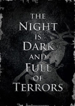 Game Of Thrones - Night Dark Carteles de chapa