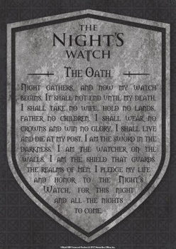 Game Of Thrones - Nights Watch Carteles de chapa