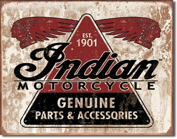 INDIAN - geniune parts Carteles de chapa