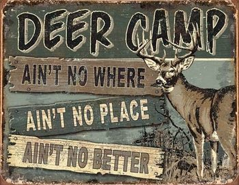 JQ - Deer Camp Carteles de chapa