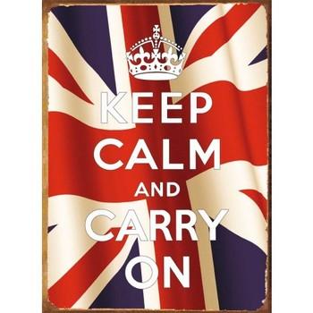 KEEP CALM FLAG Carteles de chapa