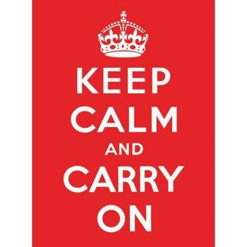 KEEP CALM RED Carteles de chapa