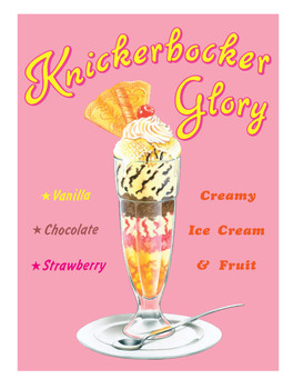 KNICKERBOCKER GLORY Carteles de chapa