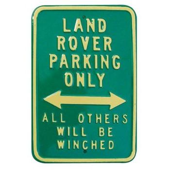 LAND ROVER PARKING ONLY Carteles de chapa