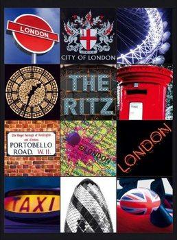 LONDON COLLAGE 2 Carteles de chapa