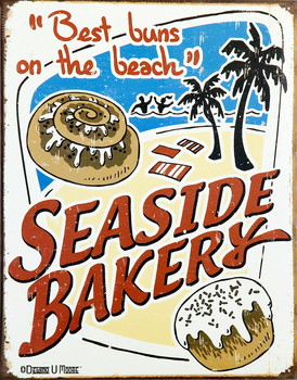 SEASIDE BAKERY Carteles de chapa