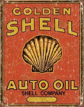 SHELL - Auto Oil Carteles de chapa