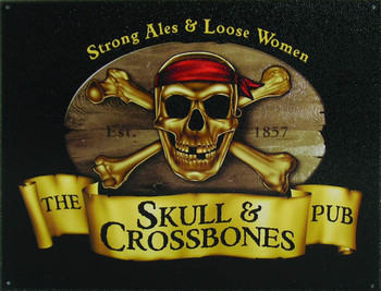 SKULL and CROSSBONES Carteles de chapa