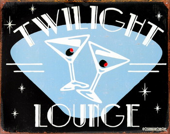 TWILIGHT LOUNGE Carteles de chapa