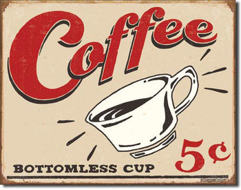 VINTAGE COFFEE Carteles de chapa