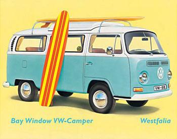 VW BAY WINDOW KOMBI Carteles de chapa