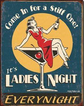 Cartello in metallo MOORE - Ladies Night