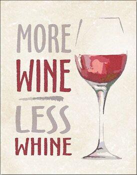 Cartello in metallo More Wine