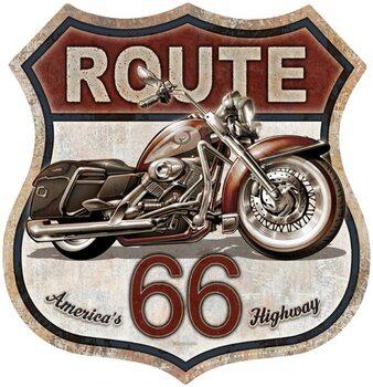 Cartello in metallo Rout 66 Bike