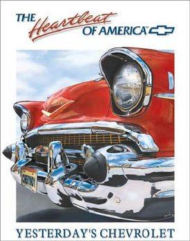 Cartelli Pubblicitari in Metallo CHEVY HEARTBEAT - Chevrolet