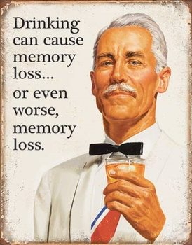 Cartelli Pubblicitari in Metallo Ephemera - Memory Loss