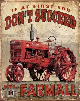 Cartelli Pubblicitari in Metallo  FARMALL - Succeed