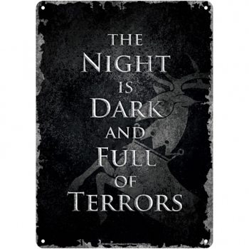 Cartelli Pubblicitari in Metallo  Game Of Thrones - Night Dark