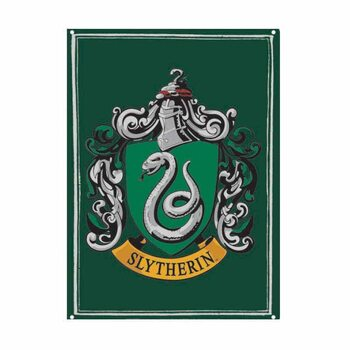 Cartelli Pubblicitari in Metallo Harry Potter - Slytherin
