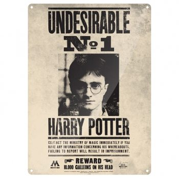 Cartelli Pubblicitari in Metallo  Harry Potter Undesirable No.1
