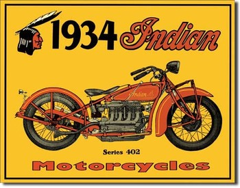 Cartelli Pubblicitari in Metallo INDIAN - motorcycles